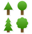 different tree shapes isolated tree forest nature vector image