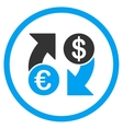 Dollar Euro Exchange Rounded Icon vector image vector image
