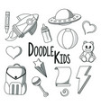 doodle kids toys vector image