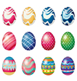 Easter eggs for the easter Sunday egg hunt vector image vector image