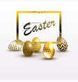 easter light composition with a silhouette of eggs vector image vector image