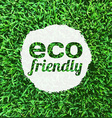Eco Friendly Banner vector image vector image