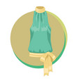 fashion stylish blouse icon elegant vector image