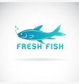 fish design on a white background aquatic vector image vector image