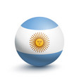 flag of argentina in the form of a ball vector image