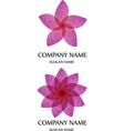 floral logo lotus vector image