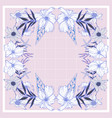 floral rose geometric rectangle pattern vector image