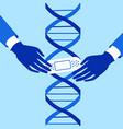 genetic engineering crispr cas9 gene editing vector image