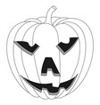 halloween pumpkin carved face vector image vector image
