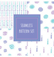 hand drawn seamless pattern collection vector image