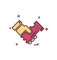 hand shake icon design vector image vector image