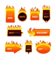 Hot Price Badges vector image vector image