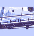 hyperloop future public transport vector image vector image