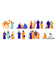 isolated arabs icon set vector image vector image