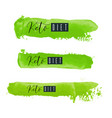 keto diet lettering on hand paint green vector image vector image