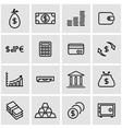 line money icon set vector image vector image