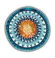 Mandala Round Ornament Pattern Ornamental Flowers vector image