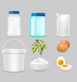 mayonnaise package mockup set realistic vector image