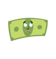 money surprised emotion cash emoji astonished vector image vector image