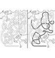 monkey maze vector image vector image