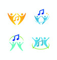 music logo design element simple symbol note vector image vector image