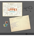 Old Postcard Design Template vector image vector image
