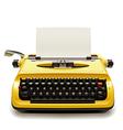 old typewriter vector image
