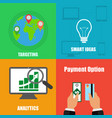 on four different backgrounds business concept vector image vector image