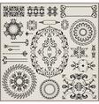 ornamental pattern with border vector image vector image