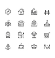 place black icon set on white background vector image vector image