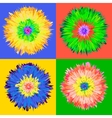 Pop art flower vector image vector image