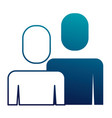 portrait business people teamwork partnership vector image