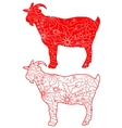 Red goats vector image vector image