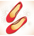Red shoes vector image vector image
