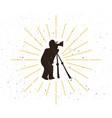 retro photographer silhouette logo vector image
