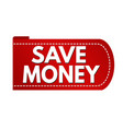 save money banner design vector image vector image