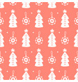scandinavian christmas forest doodles pattern vector image