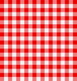 Seamless checkered tablecloth vector image vector image