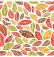 Seamless fall leaves pattern vector image vector image