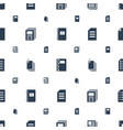 sheet icons pattern seamless white background vector image vector image