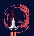 space shuttle and rockets vector image vector image