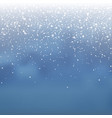 stock falling snow overlay vector image vector image