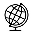 symbolic image of geographical globe web icon vector image vector image