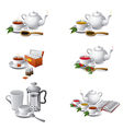 tea icons2 vector image vector image