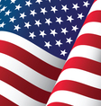 united states waving flag background vector image vector image