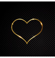 valentine heart sparkle golden frame isolated on vector image vector image