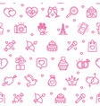 valentine love sign seamless pattern background on vector image vector image