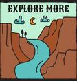 vintage camping adventure design vector image vector image
