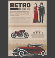 vintage colored retro poster vector image vector image