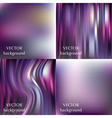Abstract colorful blurred smooth backgrounds set vector image vector image